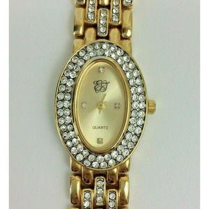 Vintage Elizabeth Taylor Ladies Watch Pave Bling